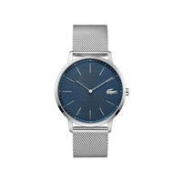 Lacoste Gents Moon Watch with Stainless Steel Mesh Band Strap and Blue Dial
