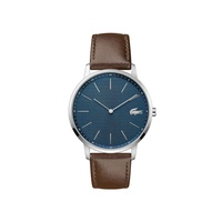 Lacoste Gents Moon Watch with Brown Leather Strap and Blue Dial