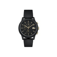 Gents Lacoste.12.12 Watch with Black Silicone Petit Pique Strap