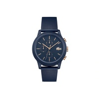 Gents Lacoste.12.12 Watch with Navy Silicone Petit Pique Strap