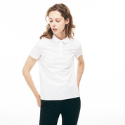 Lacoste Womens Regular Fit Stretch Poplin Polo Shirt