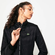 Lacoste Womens SPORT Quilted Zip-Front Tennis Jacket