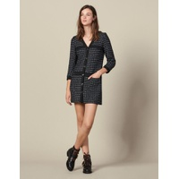 Sandro Robe Manteau Courte En Tweed
