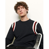 Sandro Sweat shirt A bords cotes tricolores