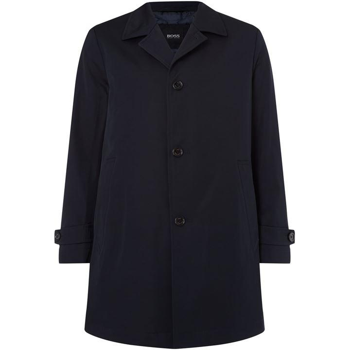 Boss Black Dais16 Cotton Twill Overcoat, SIZE L